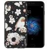 ESCASE OPPO R9 телефон футляр OPPO R9 мобильный телефон наборы OPPO телефон раковина рельеф мягкая раковина иллюстрация рельеф 5,5-дюймовый любовь цветы и птицы