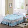 Yalu свободный хлопок кровать юбка постельные принадлежности домашний текстиль хлопок цветок покрывала кровать юбка 150 * 200 см карата любовь