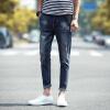 DAVID.ANN джинсы мужские ящики случайные брюки талия джинсы мужские K167 темно-синие 33