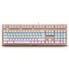 Rapoo V510S смешанного цвет с подсветкой игровой механической клавиатуры с подсветкой клавиатуры игровой панели клавиатуры игрового золото черный вал rapoo