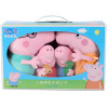 Peppa Pig Свинка Пепа Плюшевые игрушки Розовая свинка-сестра 4 шт. 19см + 30см