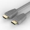 Фото Hornet (BUMBLEBEE) Кабель HDMI 1.5m 1.4 версия 4K цифровой кабель высокого разрешения интерфейс 3D-видео кабель доступ к компьютеру TV просо поле данных кабель серый HA02 кабель