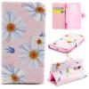 Розовый цветок дизайн искусственная кожа флип кошелек карты держатель чехол для LG Leon фиолетовый орхидеи дизайн pu кожа флип кошелек карты держатель чехол для lg leon