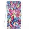 Красочные цветы дизайн Кожа PU откидная крышка карточки бумажника держатель случая для LG V20 dreamcatcher дизайн кожа pu откидная крышка карточки бумажника держатель случая для lg v20