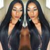 NLW 10A Перуанские девственные человеческие волосы Кружевные передние парики Silk straight Безупречные парики с детскими волосами для черных женщин