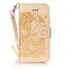 Golden Rose Дизайн Кожа PU откидная крышка бумажника карты держатель чехол для IPHONE 7