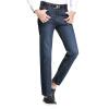Красная фасоль Hodo джинсы мужчины бизнес случайный классический чистый цвет мода Тонкие мужские джинсы синий 35