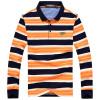 (CARTELO) с длинными рукавами футболка мужской лацкане полосатый мужской случайный рубашка POLO 16001KE0906 оранжевый XL polo sport рубашка плед случайный с длинными рукавами рубашка мода slim мужской раздел 71lf15484 темно синий xl