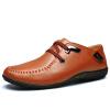 Мужская обувь должны Ч EGCHI Горох британской моды обувь 0525 отдых и бизнес желтовато-коричневый 41 бизнес обувь
