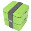 Monbento оригинальной двойного квадрата правил микроволновку обед коробка японских бледно-зеленые коробки 120,003,005 monbento оригинальный двойной правили микроволновка ланч японский светло серые коробки 120 002 110