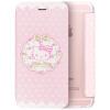 Плюс отличная серия Hello Kitty iPhone6 / 6с раскладушка оболочки / защитный рукав милый мультфильм флип кожаный венок Katie