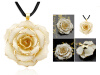 24K Golden Plated Pendant  Forever Preserved Rose Flower Pendant With 11.8 Chain 240087 диски helo he844 chrome plated r20