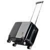 [] Jingdong супермаркет тележка Бизнес Surelaptop доска шасси ABS + зеркало PC немой заклинатель замки чемодан 3036-17 Silver 17 дюймов