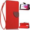Красный Дизайн Кожа PU откидная крышка бумажника карты держатель чехол для LG G3 Stylus lg g3 s