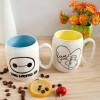 Disney Disney керамическая мультфильм белая серия музыка нечетная кружка кофе пара пару чашка набор (2 упаковки)