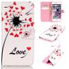 Любовь сердце одуванчика Дизайн искусственная кожа флип чехол Wallet карты держатель чехол для IPHONE 6/6S чехол