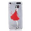 Красный Платье девушки Pattern Мягкий Тонкий TPU Резиновый Силиконовый гель Дело Чехол для iPod Touch 5 белая бабочка pattern мягкий тонкий tpu резиновый силиконовый гель чехол для ipod touch 5