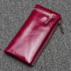 цена Dirirab  из натуральной кожи Мисс Киан Бао новое масло растянуты кошелек мягкая кожа молния кошелек простой и стильный кожаный онлайн в 2017 году