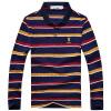 Playboy PLAYBOY футболка Мужская мода полосатый с длинными рукавами рубашки поло 16001PL1907 фиолетовый L