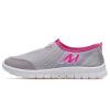 Двойная звезда сетка обувь летняя дышащая свет мягкая повседневная обувь спортивная обувь обувь педаль ленивые ботинки 9079 серая обувь 36 туфель
