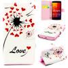все цены на Любовь сердце одуванчика Дизайн искусственная кожа флип чехол Wallet карты держатель чехол для LG Spirit H422 онлайн