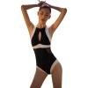 Yizi (EZI) маленький сундук вместе сексуальный сексуальный купальник купальник женский консервативный покров живот был тонкий горячий источник купальник купальник Ezi1601 черный L