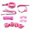 7pcs розового меха кабалы SM фетиш установлен комплект веревки с кнутом наручники кляп гей секс - игрушек  470010 ouch wooden bridle с фиолетовым ремешком кляп в форме палочки