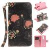 Красочные цветы Дизайн PU кожа флип кошелек карты держатель чехол для LG K7