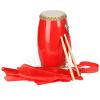 Leiothrix (неразлучники) барабан коровього барабан деревянного двойной гвоздь взрослого барабан Yangko выступление перкуссии ремень красные шелковый шарф 14см XS9001 барабан для gamo pt80
