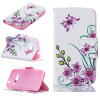 все цены на Розовый бабочка Дизайн PU кожа флип крышку кошелек карты держатель чехол для SAMSUNG Galaxy J1 2016/J120F онлайн