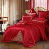 Mercury Home Textiles (MERCURY) свадебная жаккардовая вышивка красная десять наборов новой принцессы Монако, чтобы увеличить двуспальные свадебные постельные принадлежности шириной 1.8 метра