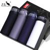 DaiShu мужские трусы-боксеры 4 плавки в подарочной коробке jianjiang мужские трусы боксеры