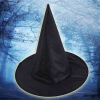 MyMei Black Witch Hat Satin Witches Hat Gothic Adult Womens Halloween Costume Accessory Witch Dress Up Magic Props adult inflatable costume for halloween frankenstein