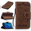 кофе Медведь Стиль Тиснение Классический откидная крышка с подставкой Функция и слот кредитной карты для SAMSUNG Galaxy J1 2016/J120F