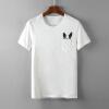 цена на Лонгвь Мужской карманных весело мультфильм печатной короткие рукава футболка белого XXL LMTD173357