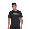 Модели Виктор Виктор Victory бадминтона одежда с короткими рукавами футболки футболка T-6027C мужской и женской спортивной L Black анта ант 16648703 6 женской одежда трикотажных с капюшоном спортивной куртки спортивной блузы black xs основа