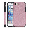 Mobile Smart Phone Flash Protecting Shell With Glitter Case For Iphone 7 silk texture plaid tpu phone shell for iphone 7 with ring kickstand 3d twisty grids black
