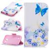 Бабочка и цветок дизайн искусственная кожа флип кошелек карты держатель чехол для LG K3 2017 синий цветок дизайн искусственная кожа флип кошелек карты держатель чехол для lg k4