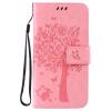 Pink Tree Design PU кожа флип крышку кошелек карты держатель чехол для SAMSUNG G530