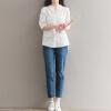 Город плюс CITYPLUS литературный полая гильза льняная рубашка вышита белая рубашка тонкая CWCD173252 L осенние новый пиджак обрезанное корейской версии новый осенний износ тонкая белая рубашка леди рукава белая рубашка