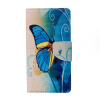 Blue Butterfly Design PU Leather Flip Cover Wallet Card Holder Case for Lenovo K6 Note luxury leather case for samsung galaxy note 5 magnet flip cover card holder wallet purse