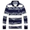 Playboy PLAYBOY футболка Мужская мода случайный с длинными рукавами рубашки поло отворот 16001PL1906 Белый 3XL