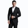 ANGELOYANG мужской костюм костюм мужской корейский бизнес случайный случайный костюм костюм костюм 608 черный XXL / 185A