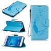 Светло-голубой Перья и птицы Стиль Тиснение Классический откидная крышка с функцией подставки и слот для кредитных карт для HUAWEI Honor 5A/Y6 II смартфон huawei y6 ii белый 51090rgc