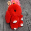 MyMei 2016 New Rex Furs Rabbit Plush Toys Key Ring Keychain Pendant Bag Car Charm Tag Cute Mini Rabbit Toy Doll Real Fur Monster wholesale cheap new cute fluffy keychain faux rabbit fur ball key chains bag backpacks charms trinket car key ring accessories