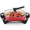 Rongshida (Royalstar) плита Корейский дом-5л электрическая сковорода электрическая сковорода сковороды HG160H красный лагерь бытовой плита корейский многофункциональный электрический сковорода с антипригарным сковородки электрическая плита 4l