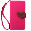 Розовый Дизайн Кожа PU откидная крышка бумажника карты держатель чехол для HTC One M8 htc one m8 16gb купить дешево