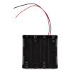 Пластиковые батареи хранения Дело Box держатель для 4 х 18650 3.7V С Проводники