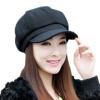[Супермаркет] Jingdong Виагра ребенок (IKEWA) BJM-20160001-хуэй шерстяного восьмиугольная ремонт крышки берета лицо тонкая шапка мода женщина черная овца