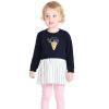 Barabara (BALABALA) для малышей новорожденных девочек костюм детей с длинными рукавами платье из двух частей темно-синий 120 28041170107 платье mini balabala 52262140621